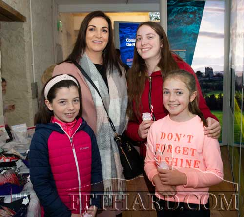 Photographed at the Craft Fair at FHC Experience are Back L to R: Colette Shelly, Ella Shelly.  Front L to R: Katie O'Brien and Anna Shelly.