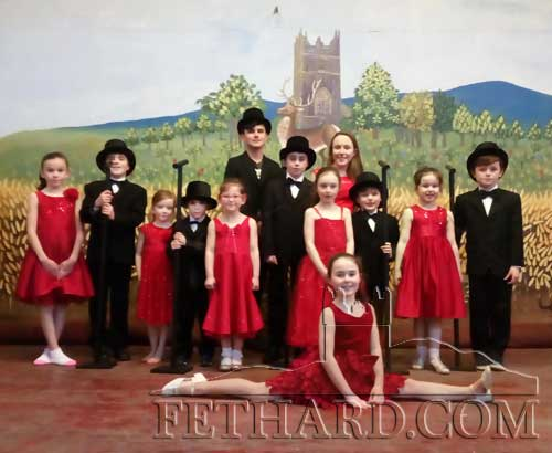 Dancers from Marina's School of Dance who are taking part in a Variety Show in Halla na Feile, Cashel on Friday March 1, at 7.30pm in aid of Scoil Aonghusa Special School in Cashel. The annual Fethard children's 'strictly' will take place in Fethard Ballroom on Monday, May 27. Standing L to R: Sophie McEvoy, Thomas O'Rahilly, Kate Byrne, A.J. Arrault, Lauren Reddy, Callum Doheny, Miceál O'Rahilly, Ruth McGuinness, Aoibheann Collum, Evan Prior, Rose Reddy and Billy Hayes. In front is Meave Collum.