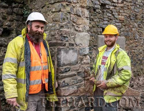 Some excellent stonework completed on the site by stonemason Decky McNamara, Mullinahone, and his son Oisín McNamara, photographed above.