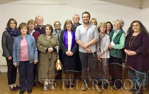 Liam Mannix, Project Manager of the Irish Walled Towns Network., photographed with committee members of Fethard Historical Society at his lecture 'The Regeneration of Rural Towns' that took place after the society's AGM on Tuesday, April 30, in the Abymill Theatre.