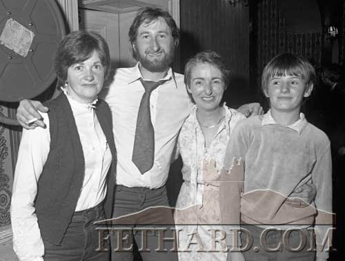Photographed at Fethard GAA Dinner Dance in Cahir House Hotel and 'Player of the Past' Presentation to Bill Connors in November 1982 are L to R: Johanna Bradshaw, Mattie Bradshaw, Kathleen Bradshaw and Rory Bradshaw.