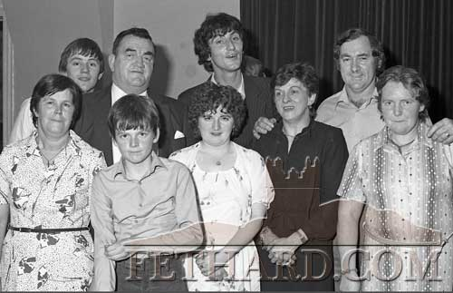 Group photographed at Fethard GAA Dinner Dance in Cahir House Hotel and 'Player of the Past' Presentation to Bill Connors in November 1982.