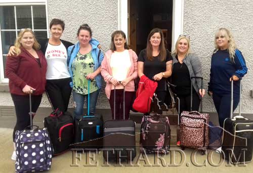 Fethard ladies 'on tour' photographed prior to leaving for their annual vacation to Lanzarote. Have a great time girls! L to R: Siobhan Curran, Noelle Freeman, Michelle Fogarty, Loretta Fox, Dorothy Connolly, Keely Tobin and Lorena Lawrence.