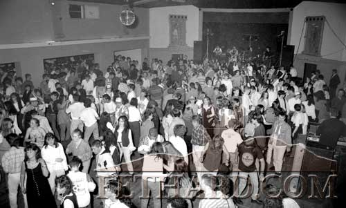 Photograph taken from Fethard Ballroom balcony of a large crowd at 'The Paddies' during the London-Fethard Reunion Festival Dance held on June 24, 1994.