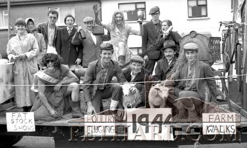 Celebrating their 50 anniversary on June 26, 1994, were the members of Fethard Macra Na Feirme club and to mark the occasion their entry in the 1994 Fancy Dress Parade won the 'Best Group' award.