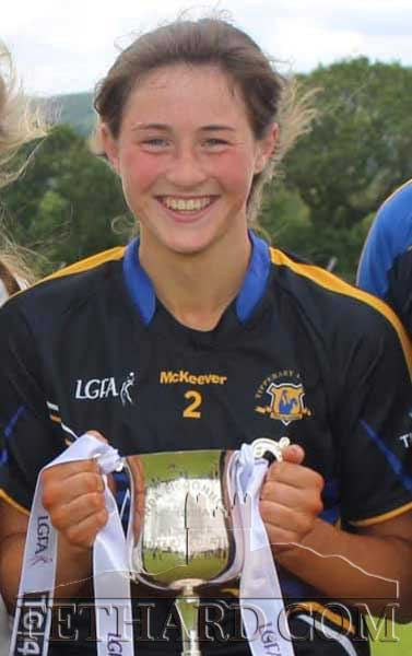 Fethard's Lucy Spillane who is on the Tipperary Intermediate Team that are through to the All Ireland Final on September 15, in Croke Park. Fethard Club would like to wish Lucy the best of Luck on this great achievement.