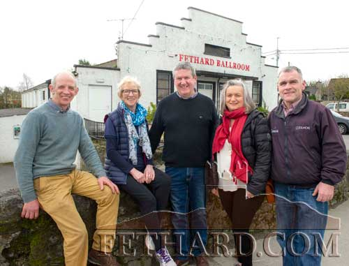Members of Fethard Ballroom's organising committee for the 'Remembering Joe'  show in Fethard Ballroom on Saturday, May 4, featuring the original Joe Dolan Band. Tickets at €25 are available from Fethard Post Office and Marian's Clonmel. Bar extension and disco to follow. L to R: Seamus Barry (Chairman Fethard Ballroom), Eileen Frewen, Sean O'Donovan, Anne Nevin and Michael O'Rahilly.