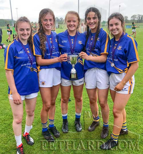 Five members of Fethard Ladies Football club who were picked for the U17 All Ireland Blitz that was held in Abbotstown on Tuesday, August 20. This is the first time that Tipperary won this competition. All five girls started and played the Final which is a fantastic achievement for both the girls and the Club. L to R: Ailson Connolly, Nell Spillane, Carrie Davey, Niamh Hayes and Leah Coen.