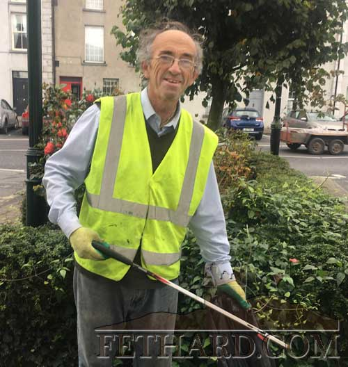 Vincent Cummins, Burke Street, Fethard, one of the most dedicated workers with Fethard Tidy Towns. Vincent can be seen at all times of the day keeping the streets litter free and is a credit to the town. Well done Vincent!