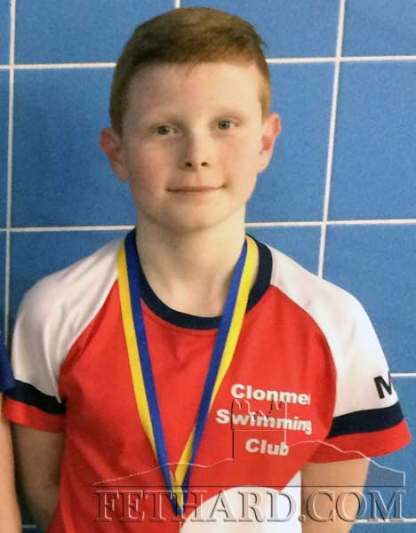 Mark O'Meara, Red City, Fethard, who won a bronze medal in the County U14 Breaststroke  Swimming Final