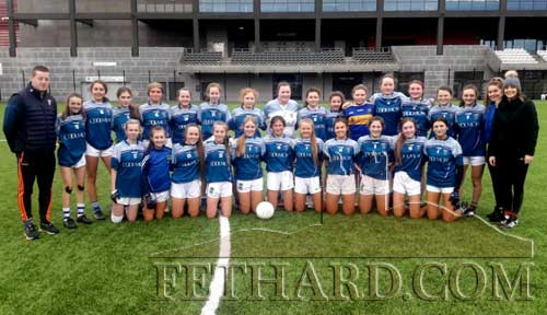 Patrician Presentation senior ladies football team who had a fine Munster quarter-final victory over Pobalscoil Youghal in Páirc Uí Chaoimh on a score line of 5-13 to 5-3.