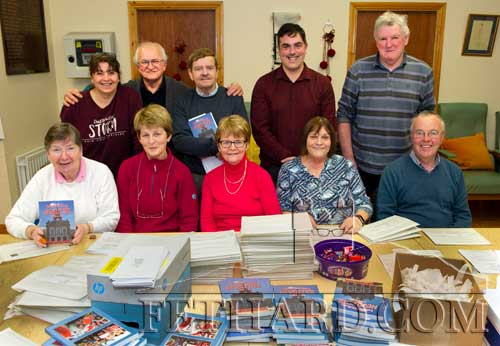 Helping with the packing and posting of this year's Fethard & Killusty Emigrant's Newsletter on December 5, were Back L to R: Monica Hickey, Johnny Burke, Brud Roche, Ian O'Connor, Rory Walsh. Front L to R: Carol Kenny, Mary Healy, Margaret Walsh, Margaret O'Donnell amd Michael Kenrick.