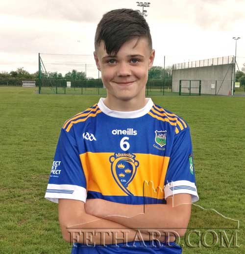 Oisín Ryan, Killusty, who played on the Tipperary Primary Games Team in Semple Stadium on Saturday evening against Limerick