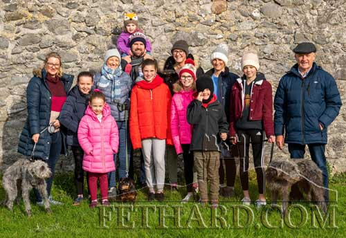 Mary and Gerry Fogarty photographed with their extended family at the Opening Meet of Tipperary Foxhounds in Fethard on October 28.