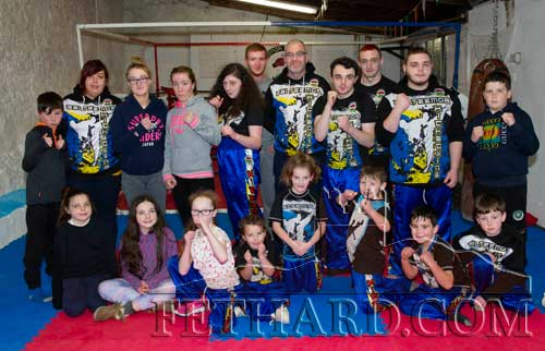 Members of the Galteemor Kickboxing Club delighted with their new premises in Barrack Street, Fethard, thanks to premises owner Don O'Connell, and support from Conor McGuire, Coolmore; Peter Grant and Declan Nevin.