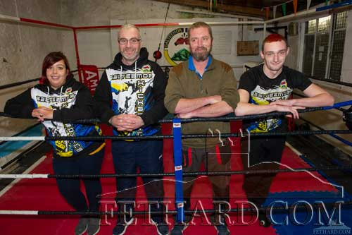 Galteemor Kickboxing coaches L to R: Georgina Setters, Daniel Coffey, Liam Crowley and Nathan Costin.