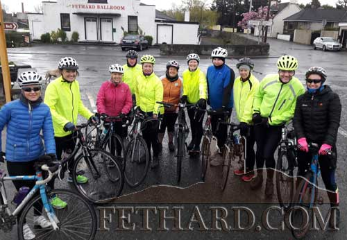 Well done to the 12 brave souls that turned up on a wet and windy Sunday morning last. Everybody really enjoyed the spin and are looking forward to next Sunday. We will be out 9.30am Easter Sunday so if you didn't go this week there's always next week. Come along, bring your bike and helmet. Check out the Fethard Peddlers Facebook page.