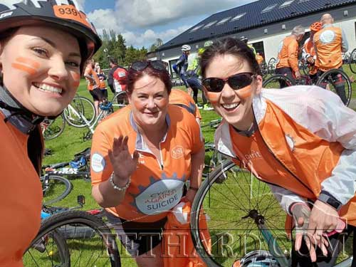 Fethard Pedallers enjoying the sun L to R: Kristina Mitraite-Valuziene, Christine Millea and Eleanor Brannigan