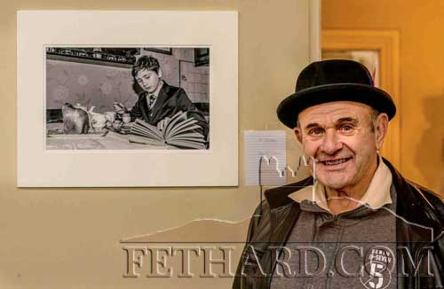Mr Pierce Coady, originally from Killenaule, Fethard, standing beside one of his Exhibits at the Bishopstown (BCA) Photographic Exhibition, held in Cork City earlier this month. Pierce is a leading member of the Ballincollig Camera Club in Cork, and an outstanding Portrait Photographer.