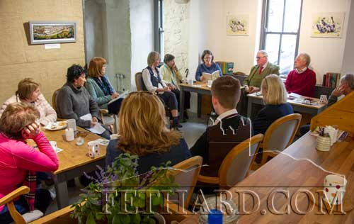 Poetry reading at the third annual Poetry Ireland Day pop-up poetry event took place last Thursday, May 2, in the Fethard Horse Country Experience.