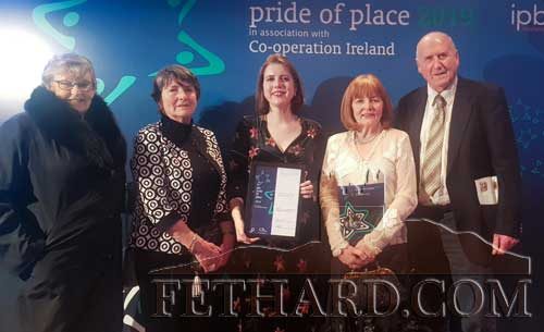 Photographed at the presentation of the Pride of Place Awards on Saturday, November 30, are Fethard Horse Country Experience representatives L to R: Catherine Britton, Eileen Croke, Laura Condon, Mary Hanrahan and Liam Cloonan.