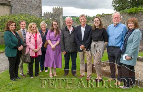 Photographed at Fethard's presentation for the 'Pride of Place' Community Tourism award. L to R: Mairéad Winters (Tourism Office Tipperary County Council), Tim Corballis, Deirdre Cox (Tipperary County Council), Catherine Britton, Aisling O'Callaghan (Co-operation Ireland), Eddie Sheehy (Judge), John Briggs (Judge), Laura Condon (Manager FHC Experience), Terry Cunningham and Mary Hanrahan (chairperson Fethard Historical Society.