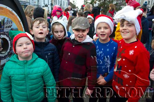 Boys photographed  on the Square Fethard waiting for Santa to arrive.