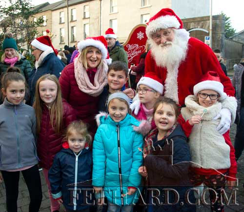 Santa photographed with some happy children on The Square Fethard on Friday, December 6.
