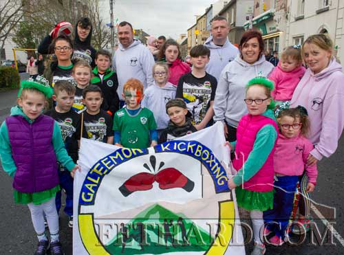 Members of the Galteemor Kickboxing Club taking part in the St. Patrick's Day Parade in Clonmel