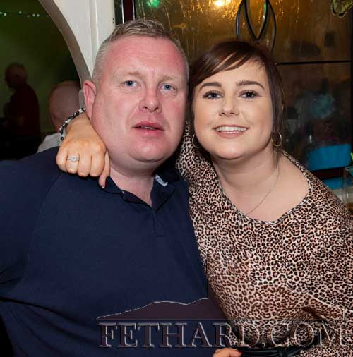 Photographed at the 'Thorney Rose' fundraiser in Lonergan's Bar, Fethard are L to R: Trevor McNamara and Kayleigh Higgins