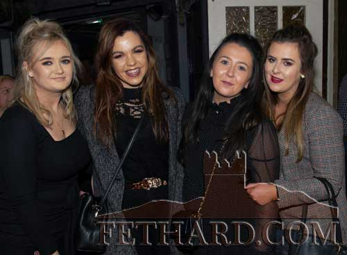 Photographed at the 'Thorney Rose' fundraiser in Lonergan's Bar, Fethard are L to R: Nicole Looby, Kate O'Donovan, Emma Hayes and Kelly Fogarty.