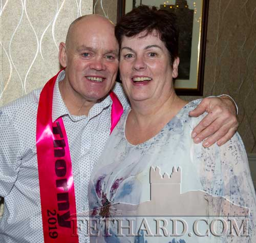 Martin Shelly who was crowned Fethard's 'Thorney Rose' for 2019 photographed with Breda Slattery