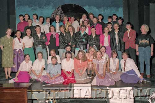 Patrician Presentation Secondary School Transition Year cast photographed after their performance of 'Grease' in the Abymill Theatre, January 1997