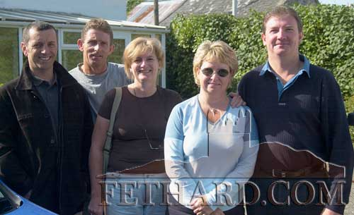 Members of the White family from Rathkenny, Fethard, photographed outside the Gateway B&B while visiting to celebrate their father, John Joe White's 70th birthday in September 2002. L to R: George Pedeira, Lawrence White, Geraldine White Padeira, Penny and John White.