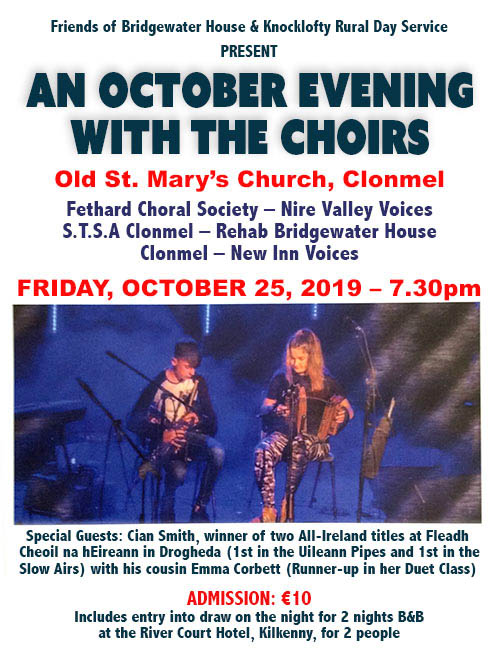 An October Evening with The Choirs at Old St. Mary's Church, Clonmel, on Friday, October 25, 2019