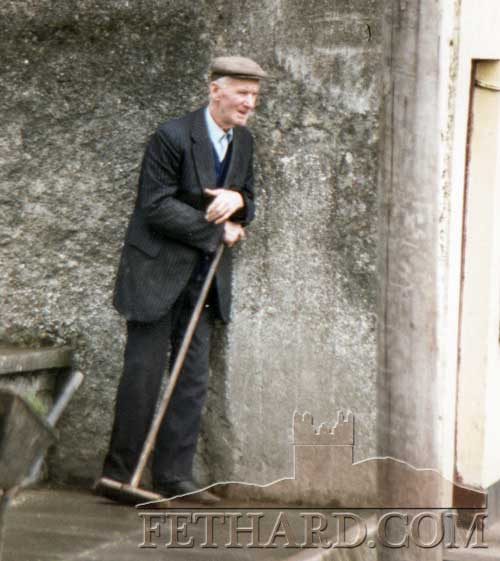 Jack Casey outside his house in Abbey Street