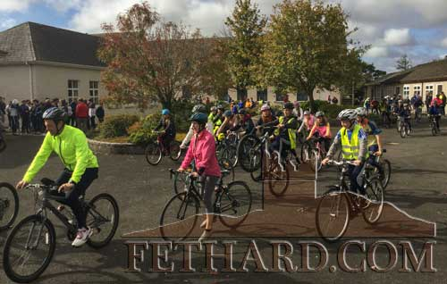 On Friday, September 25, to celebrate Bike Week and all things great about bikes and cycling, students from Patrician Presentation Secondary School took part by organising and holding a school cycle event.