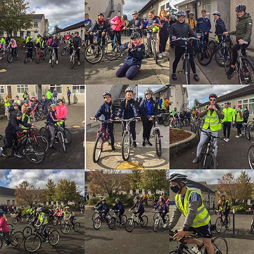 On Friday, September 25, 2020, to celebrate Bike Week and all things great about bikes and cycling, students from Patrician Presentation Secondary School took part by organising and holding a school cycle even