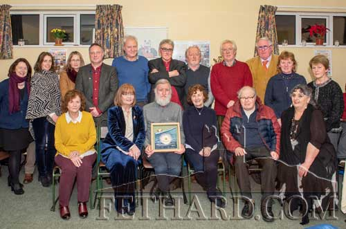 Members of Fethard Historical Society and guests photographed at the presentation of the Society's Tipperariana Book of The Year Award for 2019, 'Fethard & Killusty Annual Newsletter', 60th anniversary edition. Back L to R: Sandra McInerney, Rachel Murphy, Gwen Cooke, Jorg Mille, Tim Robinson, Jack Healy (guest speaker), Terry Cunningham, John Cooney, Michael Mallon, Catherine O'Flynn, Mary Healy. Front L to R: Marie Murphy, Mary Hanrahan (chairperson), Joe Kenny (Fethard & Killusty Newsletter), Mary Darmody guest speaker, Thurles Library Local Studies, Gerry Long and Pat Looby. This year's Tipperariana Book Fair will be held in Fethard Ballroom on Sunday, February 9, from 2pm to 6pm.