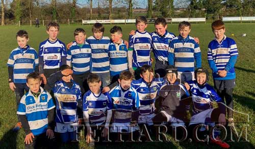 Fethard U12 Boys Rugby team who travelled down to Carrick on Sunday last to play with teams from Tramore and Waterford City.