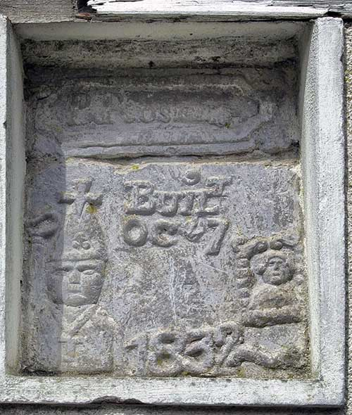 The recessed carving in Chapel Lane, Fethard, Co. Tipperary, referred to by Archaeologist Dr Louise Nugent in 2017.