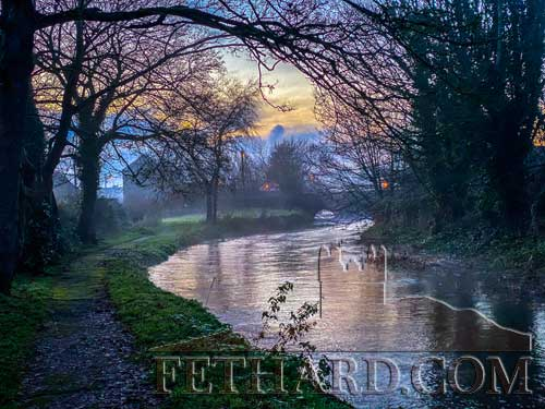 One of Fethard's most prized assets in recent years – the somewhat mysterious Clashawley River Walk at dusk – where you walk alone and feel at harmony with one's inner self or one's inner thoughts and prepare for a peaceful New Year.