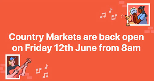 Fethard Country Markets reopen on Friday morning, June 12, at 8am. Indoors social distancing will apply and there will be a one in - one out system for customers.