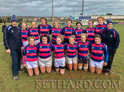 Fethard U18 Girls Rugby team that started their cup campaign off with an away win against the Cork-Youghal combination team from Highfield, Kinsale, Middleton and Youghal.
