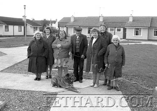 Residents of Fr. Tirry Park, Barrack Street, some years ago. L to R: Nell Mullins, Alice Keane, Angela Flynn, Neddy Reilly, Kathleen Walsh, Bessie Carey and Nora Burke. – October 1981