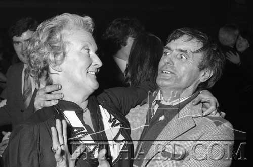 Jimmy Ryan, Watergate, enjoying a dance at the Cloneen Community Sports Centre's fundraising 'Buffet Dance' held in Fethard Ballroom on December 18, 1981.