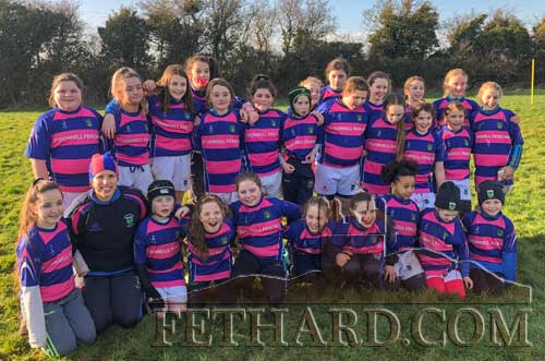 Fethard Mini Girls who played at the Munster Rugby Blitz  hosted in Fethard last weekend.