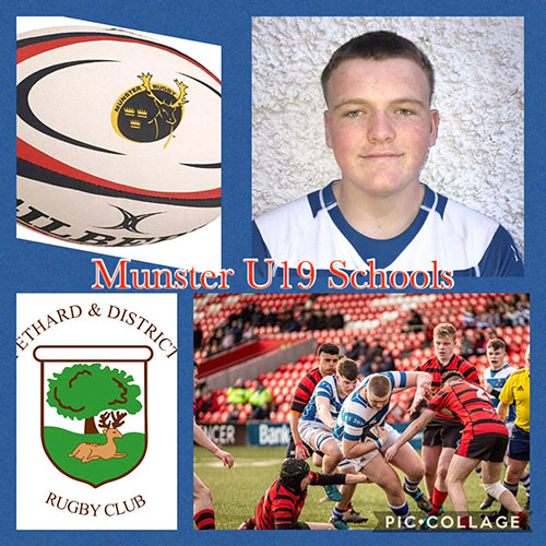Fethard Rugby Club wish to congratulate their U18 player Matthew Burke on being called up to the Munster U19 Schools Squad. Well done Matthew!