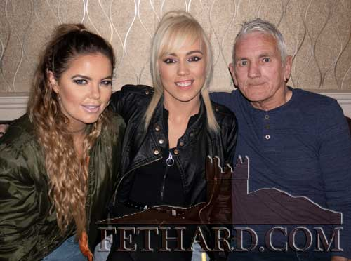 Ben Johnson photographed with his two daughters Becky and Amanda (centre), in Lonergan's Bar, Fethard.