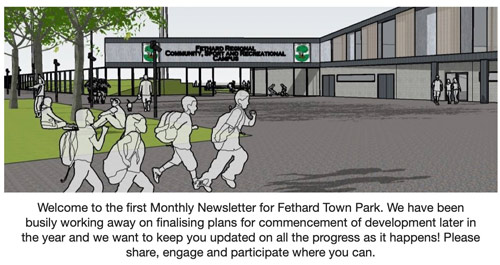 Welcome to the first Monthly Newsletter for Fethard Town Park. We have been busily working away on finalising plans for commencement of development later in the year and we want to keep you updated on all the progress as it happens! Please share, engage and participate where you can.